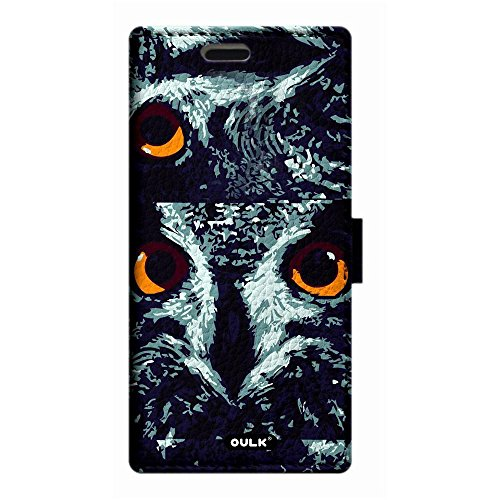 OULK(R) Apple iphone 7 4.7 inch PU Litchi Leather Owl Face in Dark Night Wallet Kickstand Case For iphone 7 4.7 (MD18)