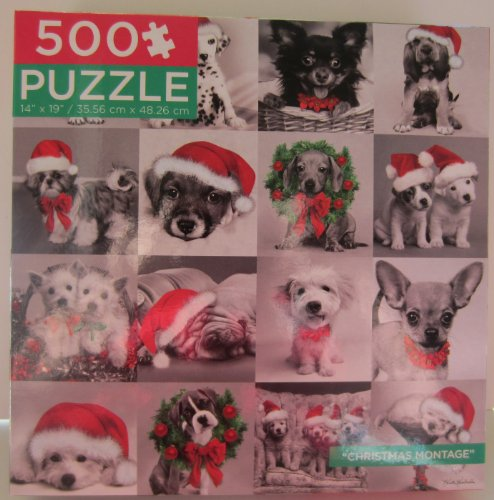 "Black & White ""Christmas Montage"" Keith Kimberlin 500 Piece Puzzle - 1"