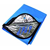 SE EB5182 Emergency Outdoor Double-Sided Blanket with Plastic Stakes