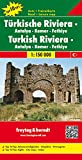 Freytag Berndt Autokarten, Türkische Riviera - Antalya - Kemer - Fethiye, Top 10 Tips - Maßstab 1:150 000