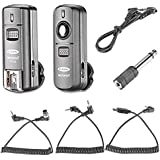 Neewer FC-16 Multi- Channel 2.4GHz 3-IN-1 Wireless Flash/Studio Flash Trigger With Remote Shutter For Nikon D7100...