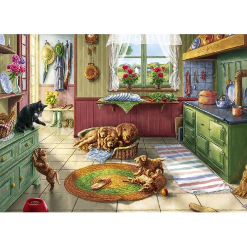 Gibsons-Puzzle-Kitchen-Capers-1000-piece-jigsaw-puzzle-Toy