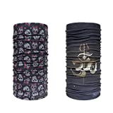 Noise Swaggy Skulls and Chanting Om Exquisite Bandana/Headwrap ( PACK OF 2 )