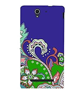 printtech Floral Pattern Back Case Cover for Sony Xperia C3 Dual D2502::Sony Xperia C3 D2533