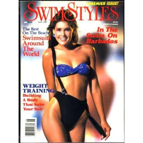 SwimStyles Magazine June 1988 Premier Issue Swimsuit Models: Eleanor