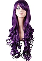 """Nsstar™32"""" 80cm Long Big Wavy Hair Heat Resistant Spiral Curly Cosplay Costume Wig Free Shipping + Free Wig Cap with 1PCS Free Cup Mat Color Random by NSSTAR"""