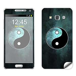 Skintice Designer Mobile Skin Sticker for Samsung Galaxy A3, Design - Yin & Yang