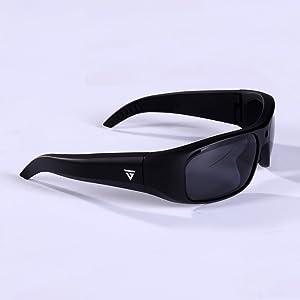 05ea2ae43af GoVision Apollo 1080p HD Camera Glasses Water Resistant Video Recording  Sport Sunglasses - Black (Color  Black)