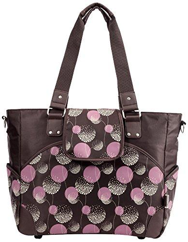 Le sac à langer Bellotte - Brun foncé avec motif de fleur rose - nouveau créateur
