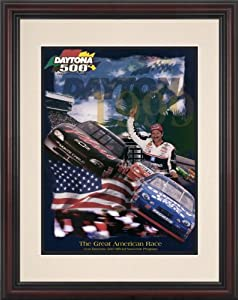 NASCAR Framed 8.5 x 11 Daytona 500 Program Print Race Year: 41st Annual - 1999 by Mounted Memories
