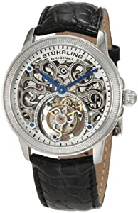Stuhrling Original Men's 243.331X2 Tourbillon Mirage Tourbillon Limited Edition Mechanical Silver Tone Watch
