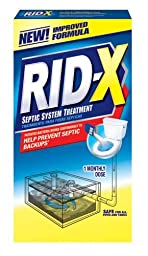 RID-X 80306 Rid-X Septic System Treatment, Concentrated Powder, 9.8 oz. Box (Case of 12)