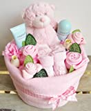 Baby Girl Nappy Cake Bouquet Arrangement