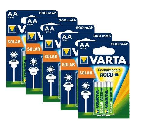 Varta Lot de 10 piles AA LR6 rechargeables 800 mAh