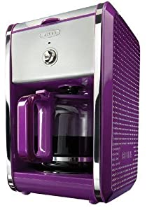Red Bella 13740 Dots Collection 12-Cup Programmable Coffee Maker - Purple/Silver from Red Bella