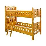 耐震仕様のすのこ2段ベッド【Tasso-タッソ-】(ベッド すのこ 2段)ライトブラウン