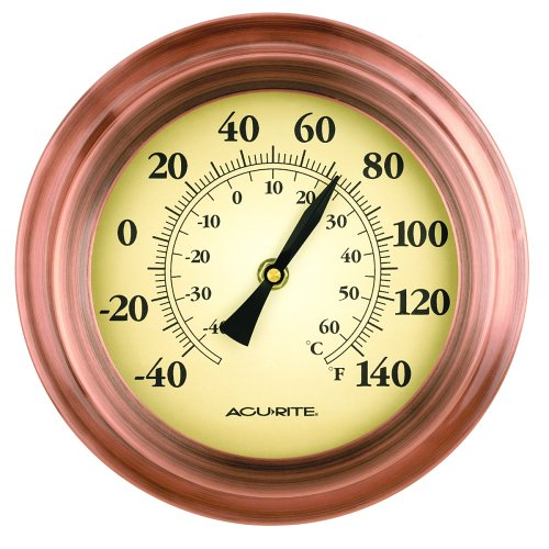 Chaney Instrument 8-Inch Copper Porthole Thermometer