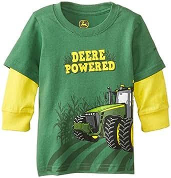 John deere baby boys 39 deere powered long sleeve tee green for John deere shirts for kids