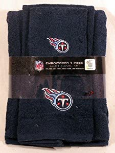 Tennessee Titans 3 Piece Embroidered Bath Towel Gift Set by Northwest