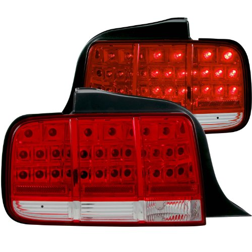 Anzo Usa 321018 Ford Mustang Red/Clear Led Tail Light Assembly - (Sold In Pairs)