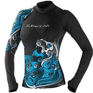 Sub Gear Rash Guard Women Long Sleeve Crimp by Sub Gear Scubapro