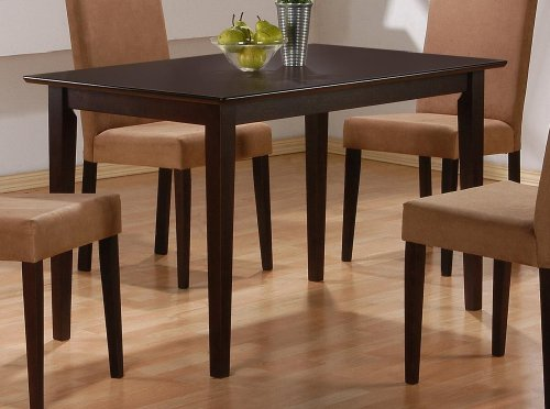 Coaster Hyde Rectangular Casual Dining Leg Table in Cappuccino