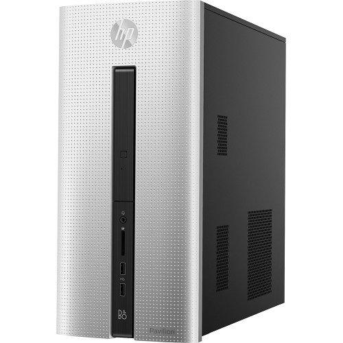HP Pavilion Desktop / AMD Quad-Core A8-6410 Accelerated Processor with AMD Radeon R5 graphics / 8GB Memory / 1TB Hard Drive / DVD RW / WiFi / Bluetooth / Windows 8.1 / Silver