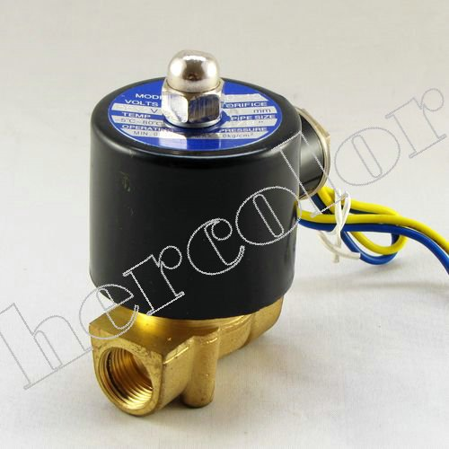 "12V 3/8"" Electric Solenoid Valve For Air Water Gas Oil"