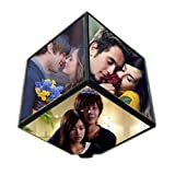 TIA Creation 6 Sided Automatic Rotating Magic Cube Photo Frame - Revolving Photo Cube - An Awesome Gift