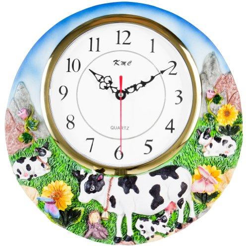 COW 3-Dimensional Wall Clock