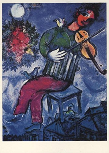 Kunstpostkarte: Le violoniste bleu von Marc Chagall
