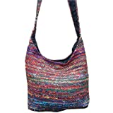 Recycled Silk Sari Bucket Bag