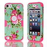 iPod Touch 5,Canica#02 Touch 5 cases,Case for Touch 5 Case 3in1 Beautiful Flowers Picture Hybrid Cover Case Suitable Fit For iPod Touch 5th Generation 003