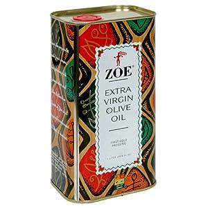 Zoe Extra Virgin Olive Oil, 1-Liter Tins (Pack of 2)