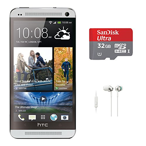 HTC ONE M7 32GB 4G LTE Android Smartphone (Unlocked/Silver) with 32 GB microSDHC Card and In-Ear Headphones Reviews