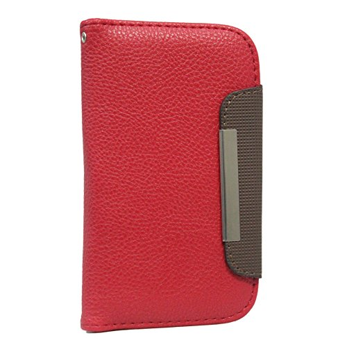 Jo Jo Z Series Magnetic High Quality Universal Phone Flip Case Cover Stand For HTC Desire 620G Red Dark Brown