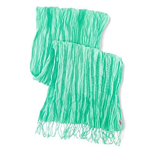 (ポロ ラルフローレン)POLO RALPH LAUREN スカーフ Crinkled Cotton Scarf タイラーグリーン Tyler Green 【並行輸入品】