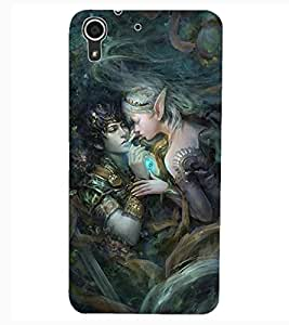 ColourCraft Loving Couple Design Back Case Cover for HTC DESIRE 626