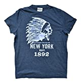 Abercrombie Kids Boys Designer Short Sleeve Cotton T-Shirt Navy Blue Chief Medium