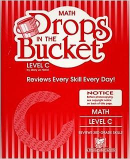 Drops in the bucket level c math mary jo hand amazon com books