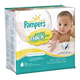 Pampers Sensitive ThickCare 3X Wipes 180 Count (Pack of 4) Baby, NewBorn, Children, Kid, Infant