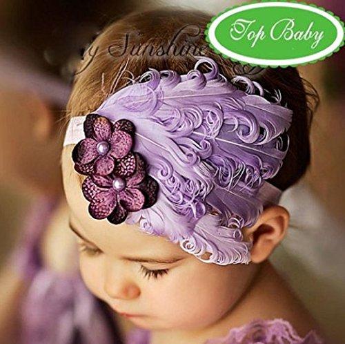 eKingstore Christmas Holloween Lovely Unusal Cotton Girls Baby Feather Hairband Flower Hairband