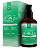 Argan Oil Hair Treatment - The Best Leave-in Conditioner for Vibrant Color & Volume Growth - With Organic Argan Oil, Jojoba Oil, Coconut Oil, Olive Oil, Shea Butter and More - InstaNatural - 4 OZ