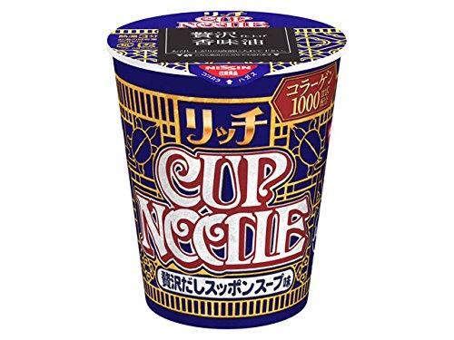 日清食品 カップヌードルリッチ 贅沢だしスッポンスープ味 67g×12個 -