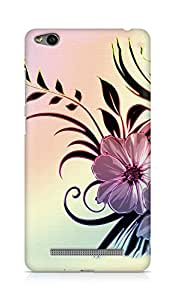 Amez designer printed 3d premium high quality back case cover for Xiaomi Redmi 3S (Flowers drawings patterns wavy light)
