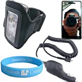 Motorola Droid A855 Black Armband + MIRROR Screen guard for Motorola Droid  ....