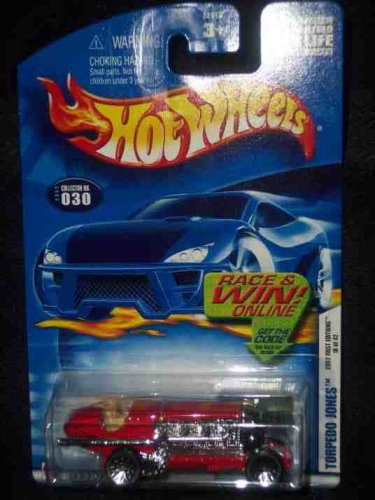 2002 First Editions -#18 Torpedo Jones #2002-30 Collectible Collector Car Mattel Hot Wheels 1:64 Scale - 1