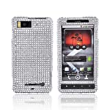 Bling Hard Case Cover Droid X Silver