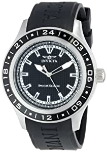 "Invicta Men's 15222 ""Specialty"" Black Stainless Steel and Polyurethane Watch"