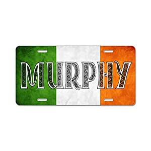 Amazon.com: CafePress Murphy Shield Aluminum License Plate - Standard